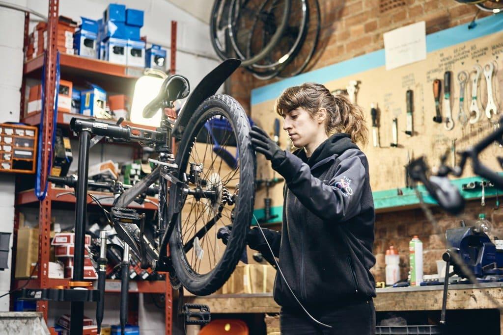 A Female Bike Mechanic