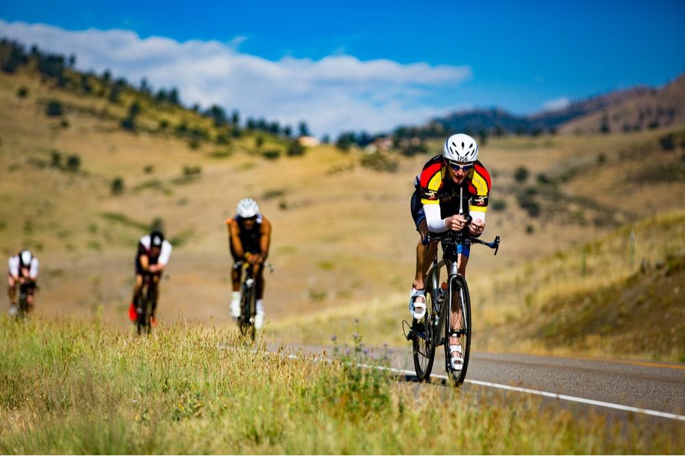 Cyclist in Boulder, Colorado_