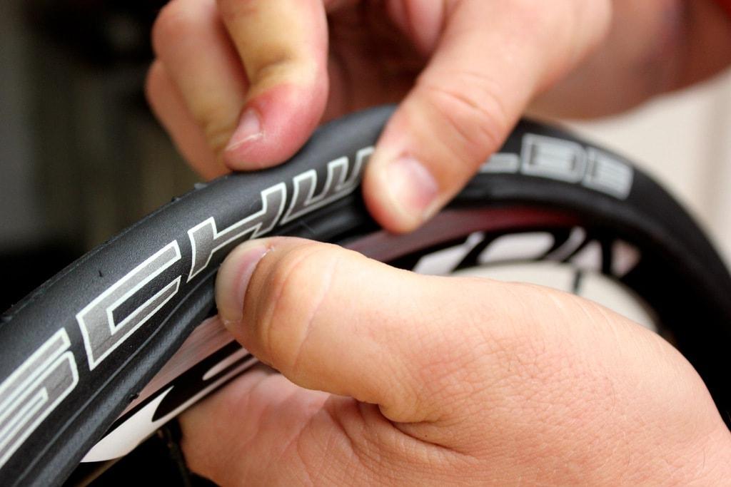 Road Bike Tire Punctured