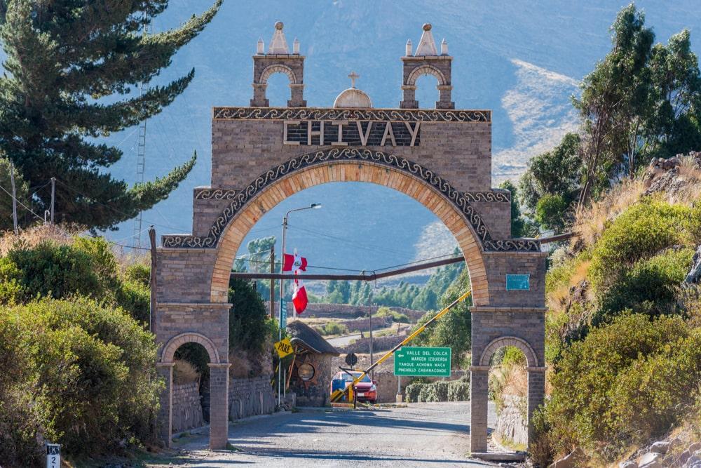 Chivay-Arequipa in peru