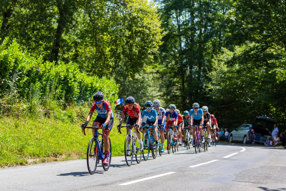Cyclists Riding in A Bunch