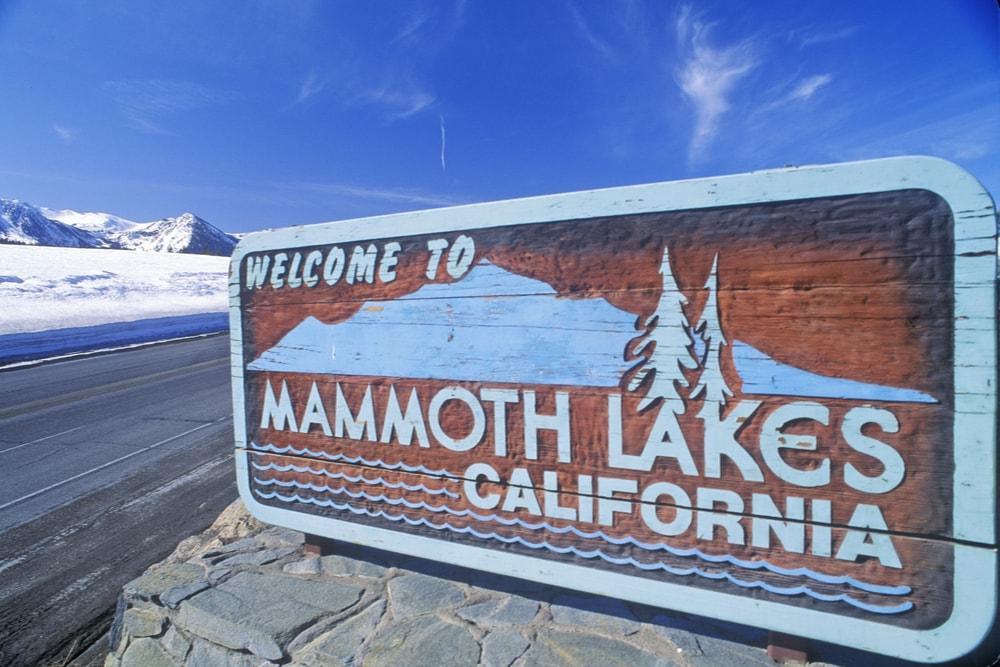 Mammoth lakes in california