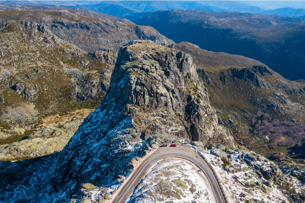 Serra da Estrela Mountains in portugal