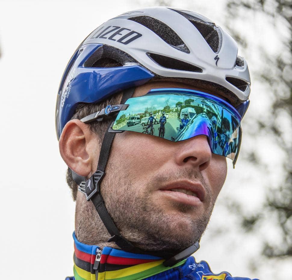 Mark Cavendish wearing the Oakley Kato X Sunglasses