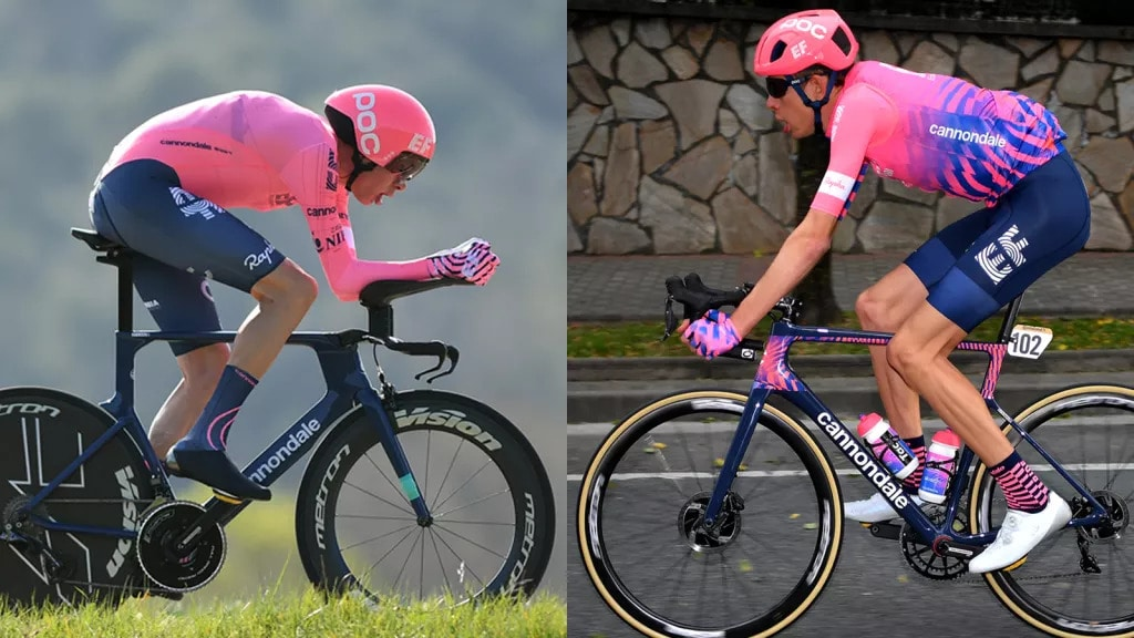 TT vs Road Bike Position