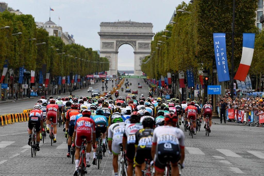 Tour de France on Champs Elysees