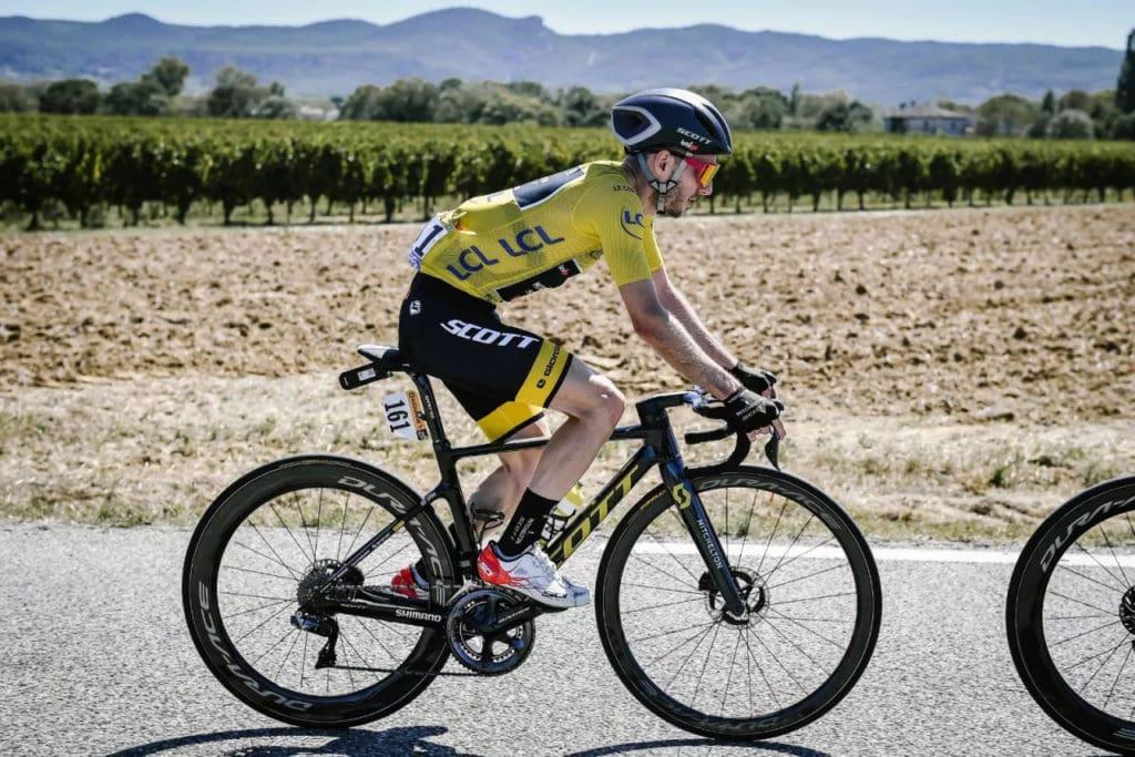 Adam Yates Riding Shimano XTR Rotors in Tour De France 2020