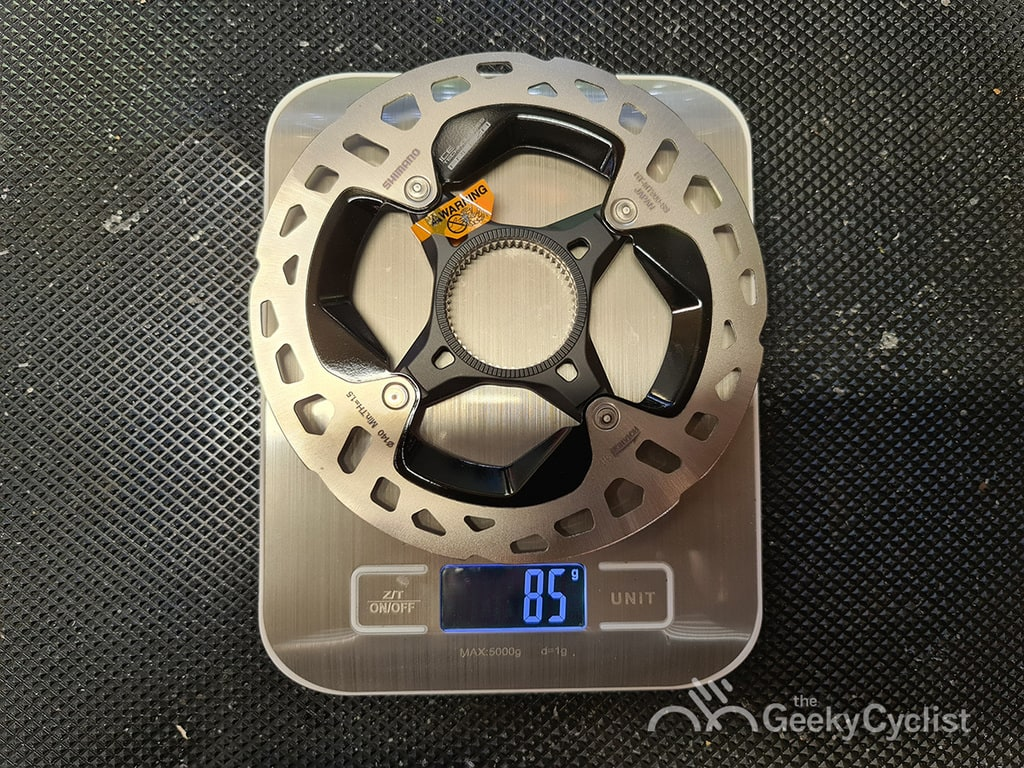 Shimano XTR MT900 Ice-Tech Centerlock Disc Rotor 140mm Weight
